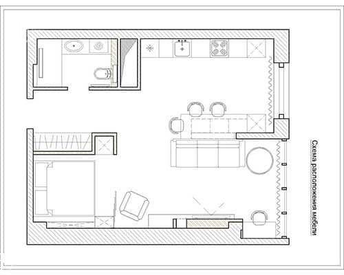 Дизайн интерьера квартиры планировка