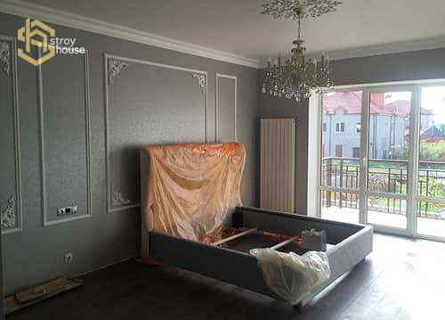 Ремонт спальни в частном доме фотографии