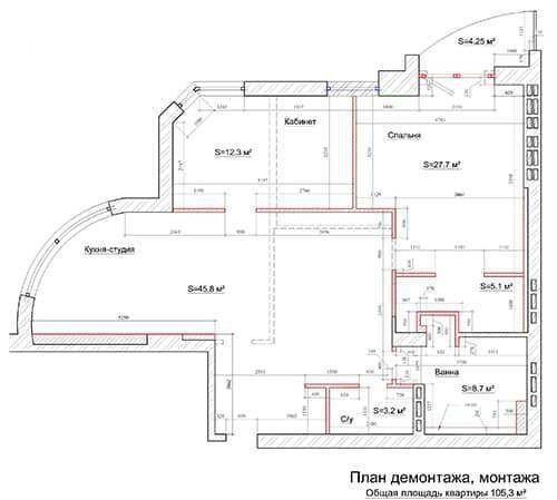 Визуализация перегородок в квартире