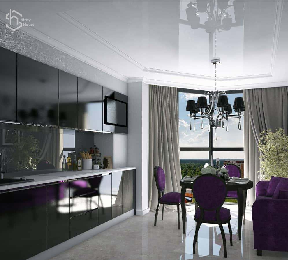 Дизайн проект кухни визуализация