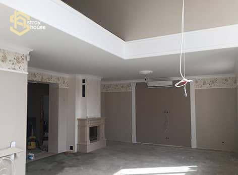 Ремонт частного дома - ремонт стен фото