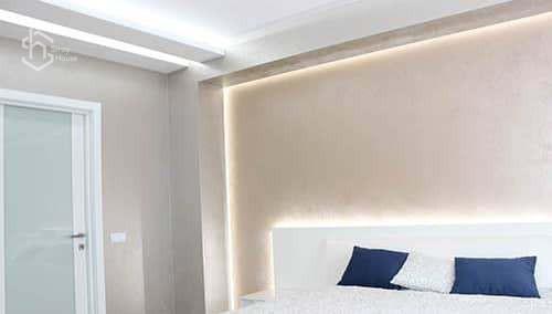 Проект дизайн интерьера спальни под ключ