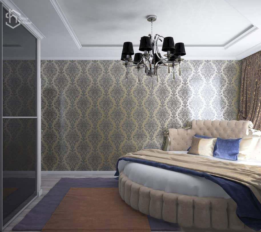 Дизайн проект спальни визуализация