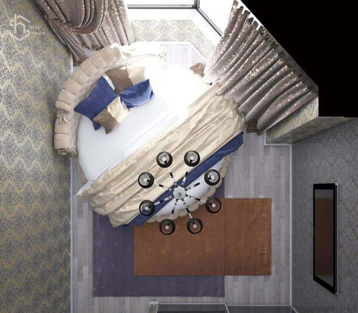 Дизайн проект маленькой спальной