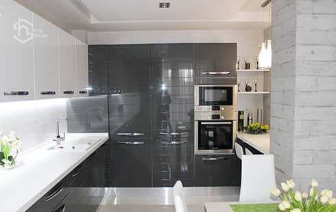Дизайн интерьера под ключ - кухня студия