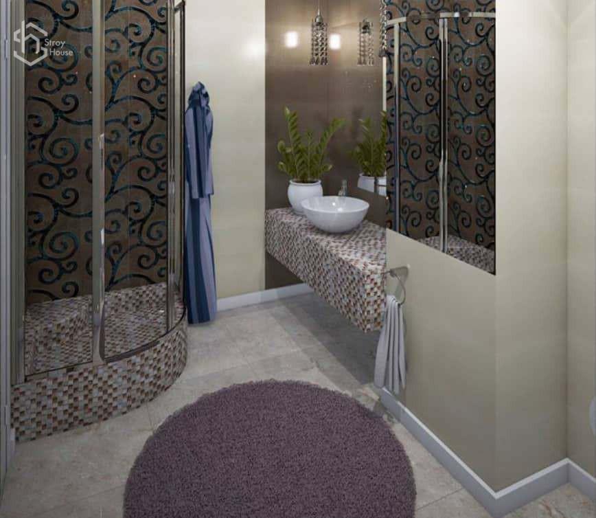Ванная комната дизайн проект интерьера