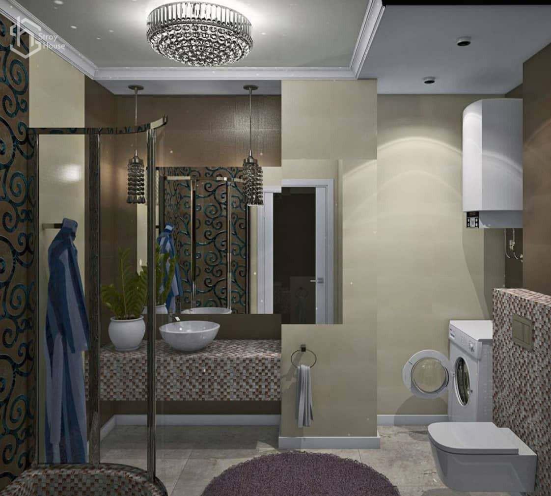 Дизайн проект ванной и туалета