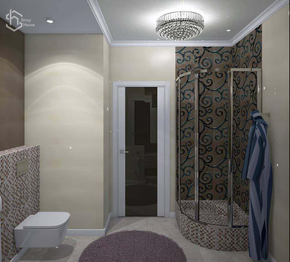 Дизайн интерьера ванной визуализация