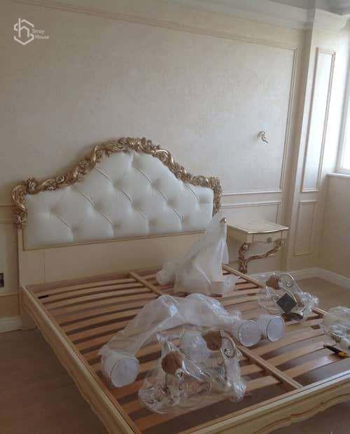 Установка мебели в спальне