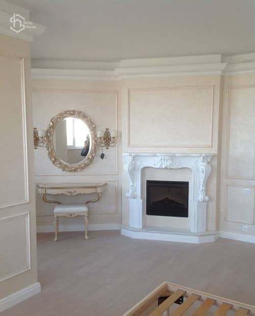 Фото ремонт комнаты с камином