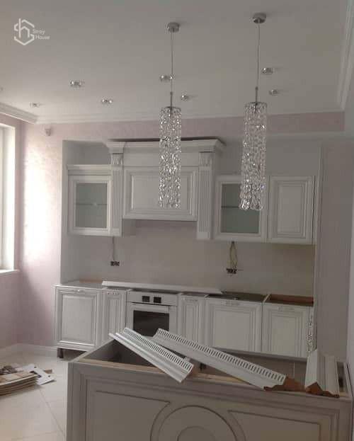 Установка мебели на кухне