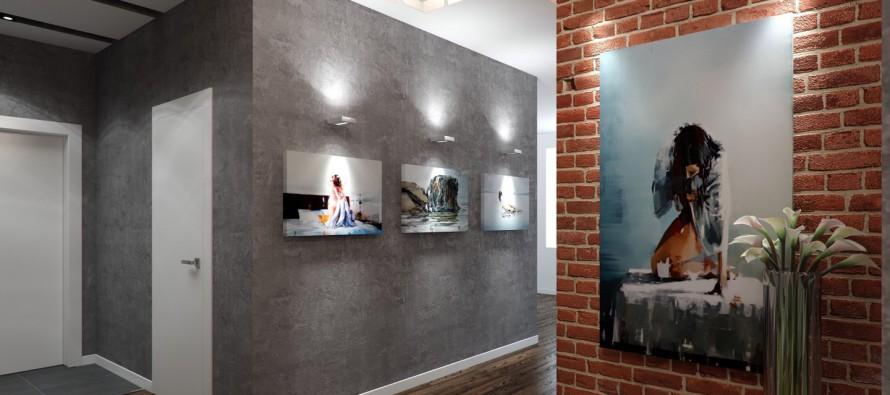 Использование бетона в интерьере квартиры фото 1